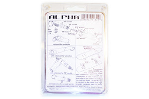 Back of Alpha skate tool packaging